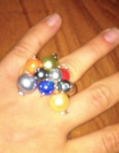 anello con perle